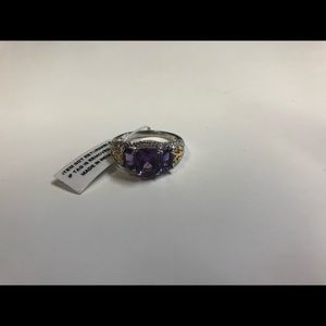 Jewelry - Amethyst ring in stainless steel 316L Stamp New